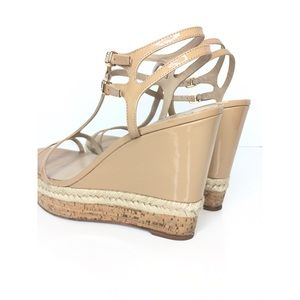 Via Spiga Shoes - Via Spiga Sz 10M Beige Patent Platform Wedge